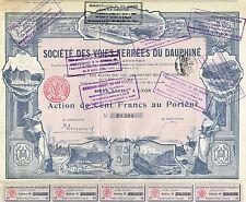 France Dauphin Railway Company stock certificate 1906