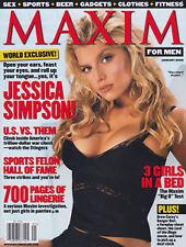 Maxim Magazine January 2002 Jessica Simpson Lauren German Ellen Benson Lingerie