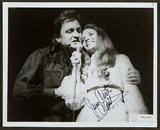 JOHNNY & JUNE CASH - SIGNED 10X8 PHOTO, GREAT STUDIO IMAGE, LOOKS GREAT FRAMED