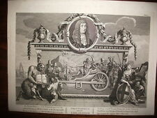 "WILLIAM HOGARTH.3 TAVOLE"" HUDIBRAS"" by SAMUEL BUTLER .Incise da T.COOK.1726 RARE"