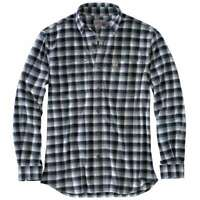 Carhartt 103314C - Rugged Flex Hamilton Plaid Flannel Shirt - Navy 412