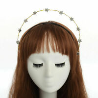 Women's Silver Stars Headband Bridal Crown Party Wedding Headdress Headpiece
