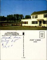 Cedar Crest Motel Bellows Falls Springfield Vermont VT vintage car chrome unused