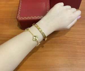 Screw Bracelet Yellow Gold Plated Size 16 & 17