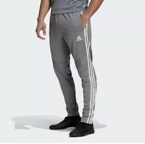 NWT ADIDAS Big & Tall Men's Tiro 19 3 STRIPE Performance Sweatpants Gray 3XL