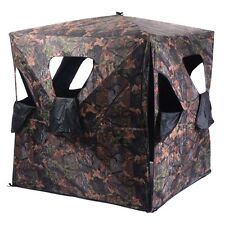 New Ground Hunting Blind Portable Deer Pop Up Camo Weather Proof Mesh Window