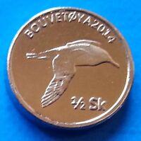 Bouvet Island ½ Skilling 2014 UNC Bird Bouvetøya unusual coinage