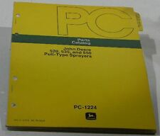 John Deere 520, 535, and 550 Pull-Type Sprayers Parts Catalog Pc-1224