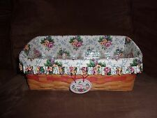 Longaberger 1996 Mother's Day Vanity Basket Set with Tie-On