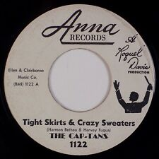 """THE CAP-TANS: Tight Skirts & Crazy Sweaters ANNA R&B Doo Wop 7"""" 45 MP3"""