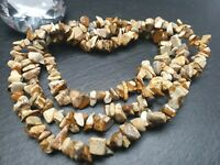 Strang 85 cm Edelstein Perlen Opalit klar Nuggets Chips Splitter DIY Schmuck