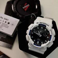Casio G-Shock GA100B-7A Wrist Watch for Men White Resin