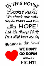 In This House We Do Poorly Hearts - Wall Art Sticker Decal