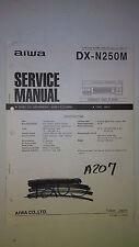 Aiwa dx-n250m service manual original repair book stereo cd player