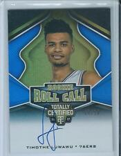 2016-17 Panini Totally Certified Rookie Timothe Luwawu RC Auto Gold 10/10