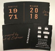 2018 STARBUCKS SEATTLE 1971/MILANO 2018 ROASTERY CUP HOLDER SLEEVE