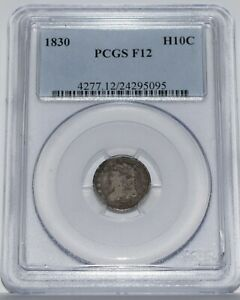 1830 Capped Bust Half Dime PCGS F12