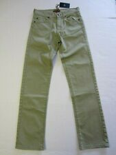 7 For All Mankind Pants 14 Green Slimmy Boy NEW a
