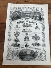 More details for 1891 large illustrated advertising print . clarkes fairy lamps !