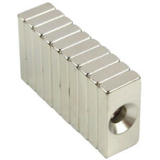 New 10pcs Wholesale Super Strong Block Magnets 20x10x4mm Hole 4mm Rare Earth N35