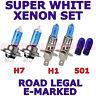 PER SEAT TOLEDO 2002-2004 set H1 H7 501 Super Bianco Xenon lampadine