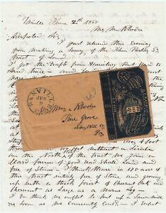 RARE Letter & Cover 1855 Spiritualism Abraham Lincoln Fire Pump Kase Danville PA