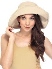 Outdoor Sports Sun Safari-Style Hat Bucket Beach Hat w/ Rolled Brim, Khaki