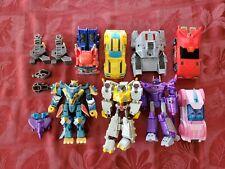 Transformers Cyberverse LOT 8 Deluxes Plus Bonus Slipstream And Maccadam Parts