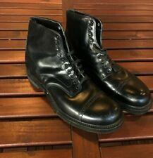 """Excellent 60's Vtg_Portage Porto-Ped_Sz.11 D_""""Silk Label"""" Black Leather boots"""