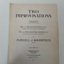 "organ PURCELL J. MANSFIELD Op 130 Prelude on ""Crimond"" Scots"