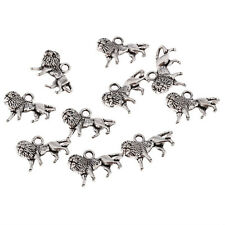 lion Tibetan Silver Bead charms Pendants fit bracelet necklace 10pcs 17*10mm