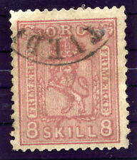 NORWAY 1867 Arms 8 Sk. pink fine used.