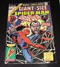 Comic: GIANT-SIZE SPIDER-MAN & DRACULA #1 July 1974 Marvel - John Romita Cover