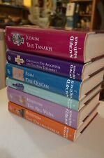Sacred Writing 6 Vol Book Set Judaism Christianity Islam Buddhism Hinduism Hc Dj
