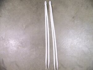 One Pair Leather Saddle Strings 24 In. Long x 1/2 Inch Wide Creamy White Color