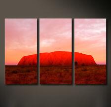 RED ROCK Leinwand Bild Ayers Australien Rot Ros Wandbild XL Kunstdruck No Poster
