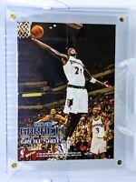 1997-98 Hoops Great Shots! Mini Poster Insert #16 Kevin Garnett Timberwolves HOF