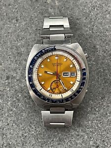 Vintage December 1972 Automatic Seiko Pogue Chronograph 6139 6005