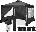 10'x10' Canopy Foldable Gazebo Durable Oxford Cloth Party Tent With 4 Side Walls