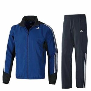 adidas Trainingsanzug 365 Woven OH 3 Streifen Suit blau Jogginganzug Sportanzug