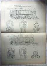 1893 Pittsburgh Locomotive Work Passenger Freight Locomotive Design, Section