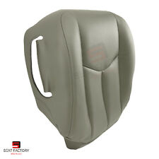 2003 2004 Chevy Avalanche 1500 Driver Bottom Synthetic Leather Seat Cover Gray