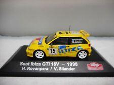 SEAT IBIZA GTI 16V RALLY MONTE CARLO 1998 H.ROVANPERA ATLAS IXO 1:43