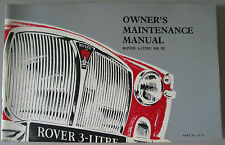 NOS ROVER P5 3 litre MK3 Owners MAINTENANCE Manual   NOS GENUINE ROVER