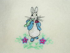 Peter Rabbit Polar Polar Fleece Satin/Trim Baby Blanket .