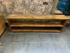 chunky rustic farmhouse shoe rack finished in rugger brown