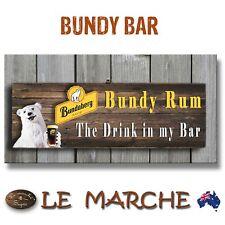 "🥃 BUNDY Bundaberg Rum Bar Wooden Plaque ""The drink in my bar"" Bundy Bear 🥃"