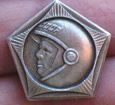 Gagarin Flight Soviet RUSSIAN COSMOS Space Man Ship Craft Pin Badge Rocket Suit