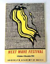 1983 Next Wave Festival BAM Brooklyn Academy of Music Program Book Lichtenstein