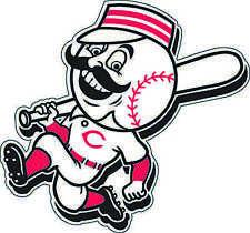 "Cincinnati Reds MLB Baseball Bumper sticker, wall decor, vinyl decal, 5""x4.5"""